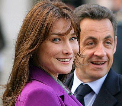フランス大統領夫婦 カーラ夫人とサルコジ