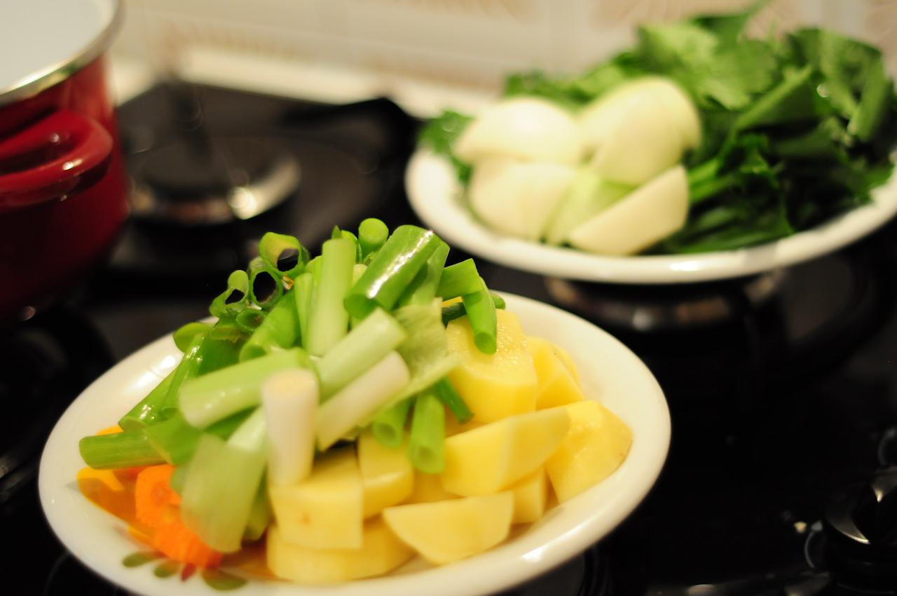下準備した野菜