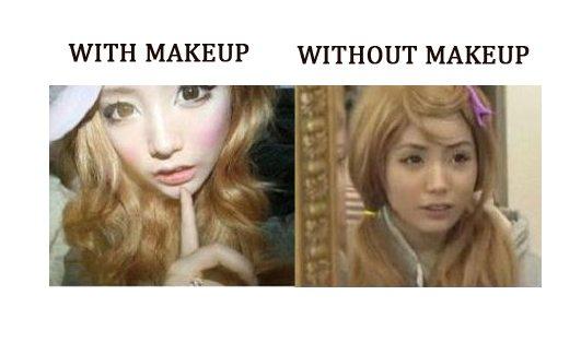 2年間化粧を落とさないかった少女
