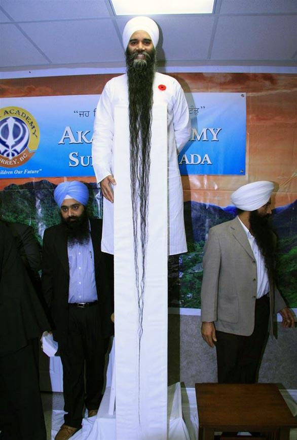世界一ひげが長い男