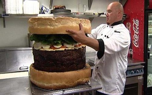 世界一デカいハンバーガー