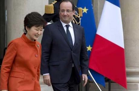オランド仏大統領を訪問した朴大統領