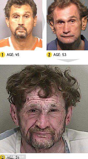 薬物は怖い!覚醒剤中毒で顔がホラー並に恐ろしくなることがわかる写真