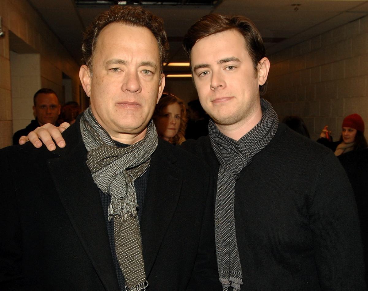 トム・ハンクスと息子のコリン