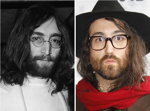 Sean and John Lennon